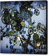 Steampunk Gears - Time Destroyed Canvas Print
