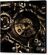 Steampunk Personal Decompression Chamber Model 39875da78803 Fully Accessorized . Gold Plated Luxury  Canvas Print by Wingsdomain Art and Photography