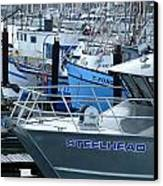 Steelhead And Fishing Boats Canvas Print