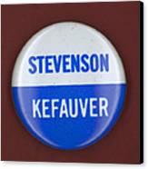 Stevenson Campaign Button Canvas Print