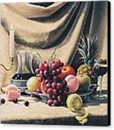 Still Life On A Gold Canvas Print by Oleg Bylgakov