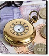 Still Life With Pocket Watch, Key Canvas Print by Photo Researchers