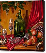 Still Life With Snails Canvas Print