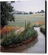 Still Water-irrigation Canvas Print by Victoria  Broyles