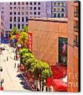 Stockton Street San Francisco Towards Union Square Canvas Print by Wingsdomain Art and Photography
