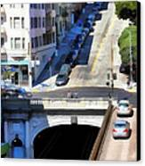Stockton Street Tunnel In Hilly San Francisco . 7d7499 Canvas Print by Wingsdomain Art and Photography