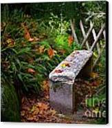 Stone Bench Canvas Print by Carlos Caetano