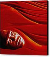 Stone Face Mahogany Canvas Print by Charles Dancik