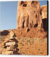 Stone Stack. Canvas Print by Jane Rix