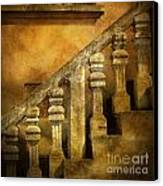 Stone Stairs And Balustrade. Canvas Print by Bernard Jaubert