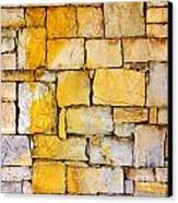 Stone Wall Canvas Print by Carlos Caetano