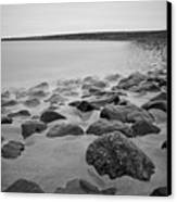 Stones In North Sea In Germany Canvas Print by by Felix Schmidt