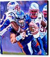 Stopping Tebow Canvas Print by Donovan Furin