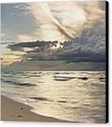 Storm Approaches Miami Beach Canvas Print by Matt Tilghman