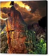 Storm On Buckhorn Mountain Canvas Print by Ric Soulen