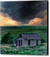 Storm Over Abandoned House Canvas Print by Jill Battaglia