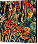 Storm Tribute To Henri Rousseau Canvas Print by Sandra Kern