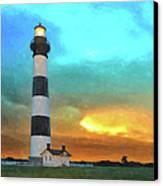 Stormy Sunrise Wc Canvas Print by Dan Carmichael