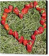 Strawberry Heart Canvas Print by Mats Silvan
