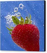 Strawberry Soda Dunk 3 Canvas Print by John Brueske