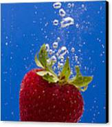 Strawberry Soda Dunk 5 Canvas Print by John Brueske