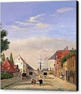 Street Scene Canvas Print by Danish School