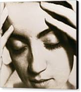 Stressed Woman Canvas Print