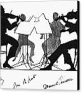 String Quartet, C1935 Canvas Print