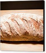 Studio Shot Of Loaf Of Bread Canvas Print by Kristin Lee