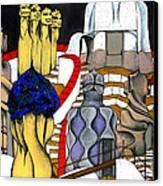 Studying Gaudi Canvas Print by Nina Mirhabibi