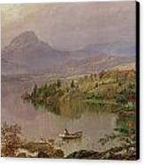 Sugarloaf From Wickham Lake Canvas Print by Jasper Francis Cropsey