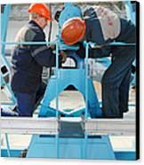 Sukhoi Superjet 100 Assembly Canvas Print