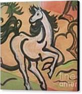 Sumihorse3 Canvas Print by Lyn Vic