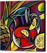 Summer Drink Canvas Print by Leon Zernitsky