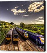 Summer Saturday At Aller Junction Canvas Print by Rob Hawkins