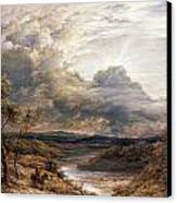 Sun Behind Clouds Canvas Print by John Linnell