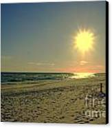 Sunburst At Henderson Beach Florida Canvas Print by Susanne Van Hulst