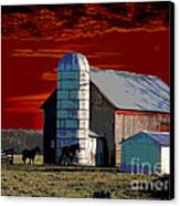 Sundown On The Farm Canvas Print