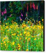 Sunflowers And Grasses Canvas Print by Judi Bagwell