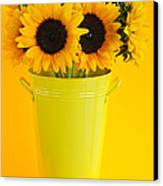Sunflowers In Vase Canvas Print