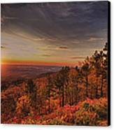 Sunrise 2-talimena Scenic Drive Arkansas Canvas Print by Douglas Barnard