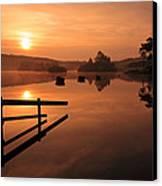 Sunrise At Knapps Loch Canvas Print by Grant Glendinning