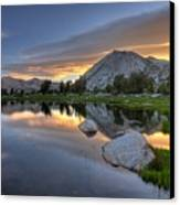 Sunrise At Upper Young Lake Canvas Print by by Sathish Jothikumar