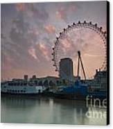 Sunrise London Eye Canvas Print by Donald Davis