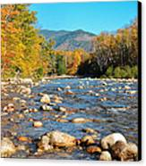 Sunrise Over The Saco Vertical Canvas Print by Geoffrey Bolte