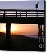 Sunrise Pier Ventura Canvas Print by Henrik Lehnerer
