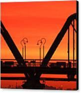 Sunrise Walnut Street Bridge Canvas Print