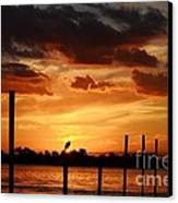 Sunset 1-1-12 Canvas Print by Lynda Dawson-Youngclaus