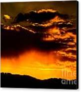 Sunset Behind Horsetooth Rock Canvas Print by Harry Strharsky