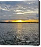 Sunset Landscape Canvas Print by Nawarat Namphon